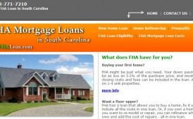 FHA Mortgage Loans in South Carolina