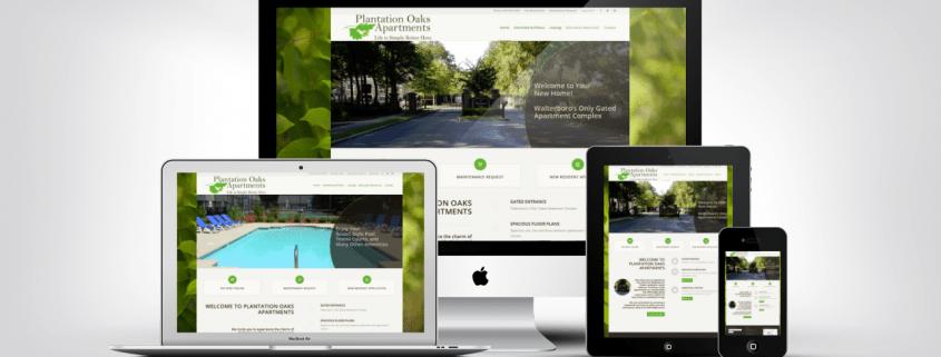 Website Design Examples | Plantation Oaks Apartments