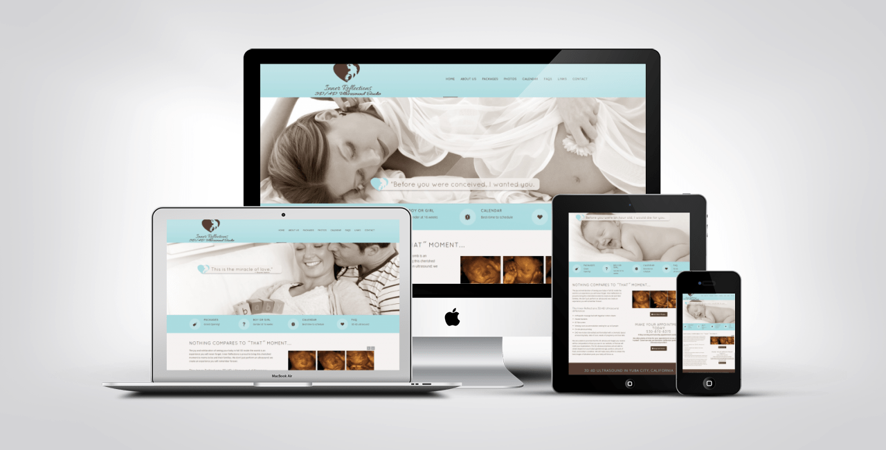 Ultrasound Web Design Portfolio Example