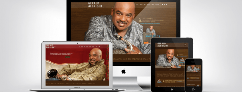 Gerald Albright Web Design Portfolio Example
