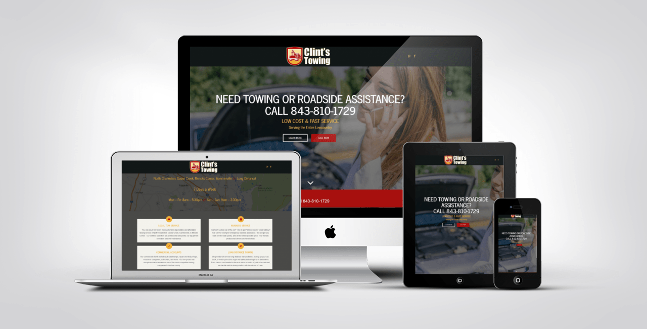 Clints Towing Launches New Responsive Website