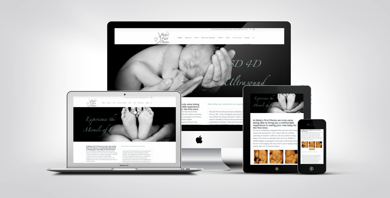 4D Ultrasound Web Design