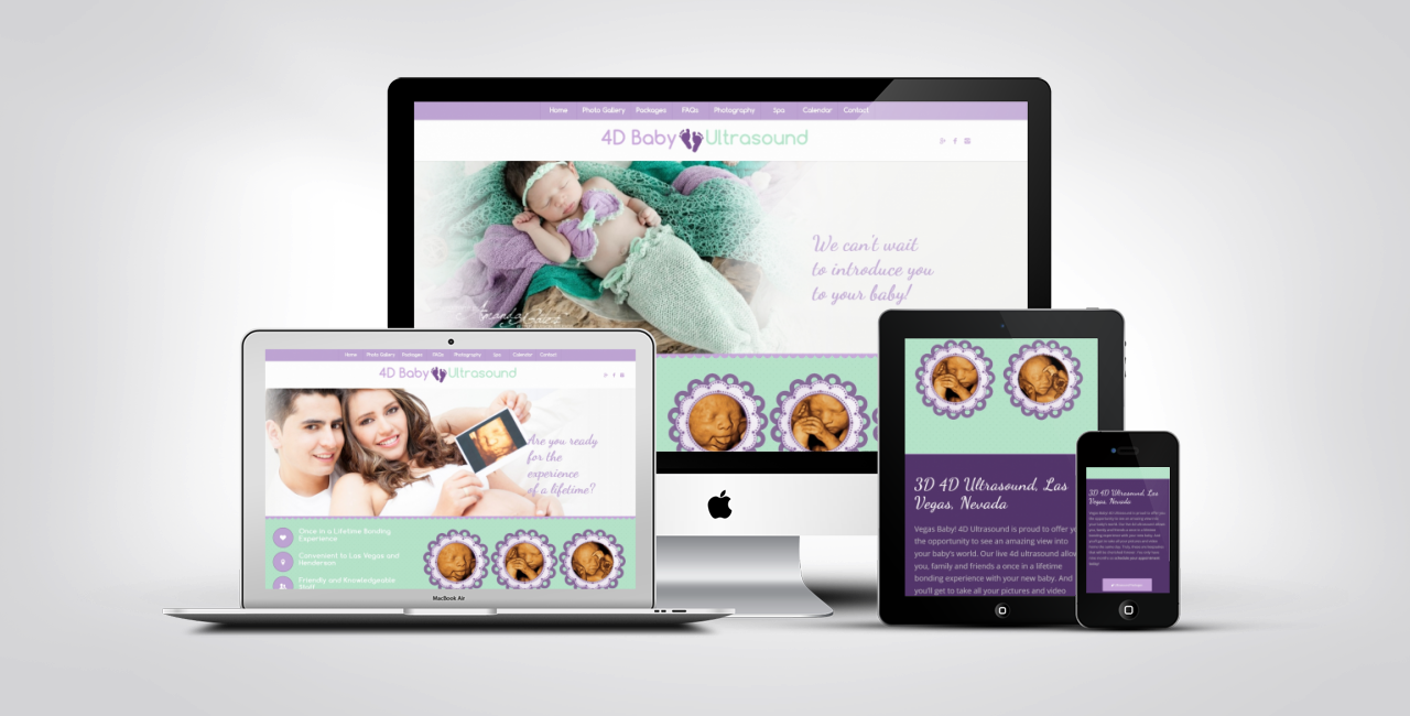 Website Design Examples 4d Baby